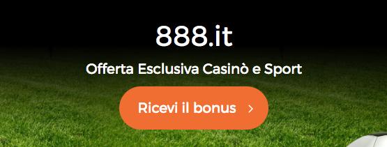 888.it bonus di benvenuto Casinò e Sport