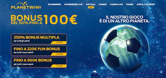 planetwin365 codice bonus