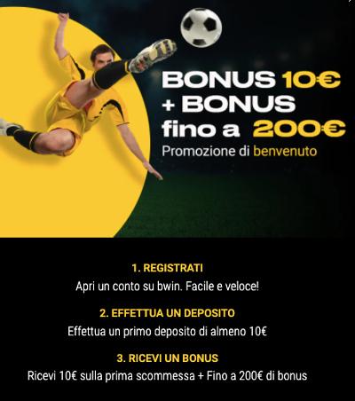 codice bonus bwin
